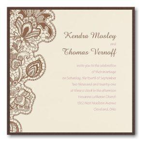 Bohemian Lace Layered Wedding Invitation Icon