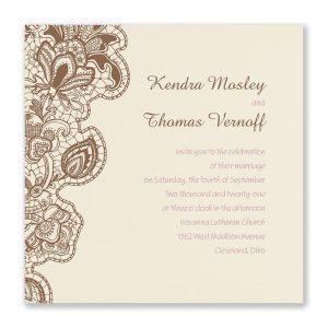 Bohemian Lace Wedding Invitation Icon