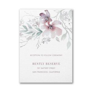 Boho Sophistication Layered Pocket Reception Card