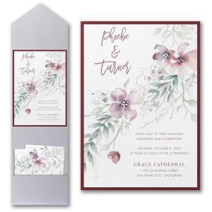 Boho Sophistication Layered Pocket Wedding Invitation