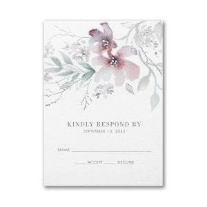 Boho Sophistication Layered Response Card