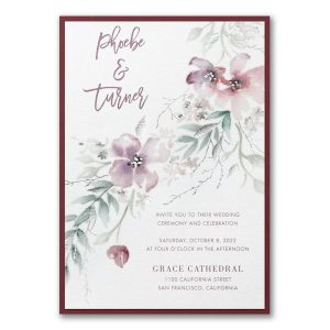 Boho Sophistication Layered Wedding Invitation