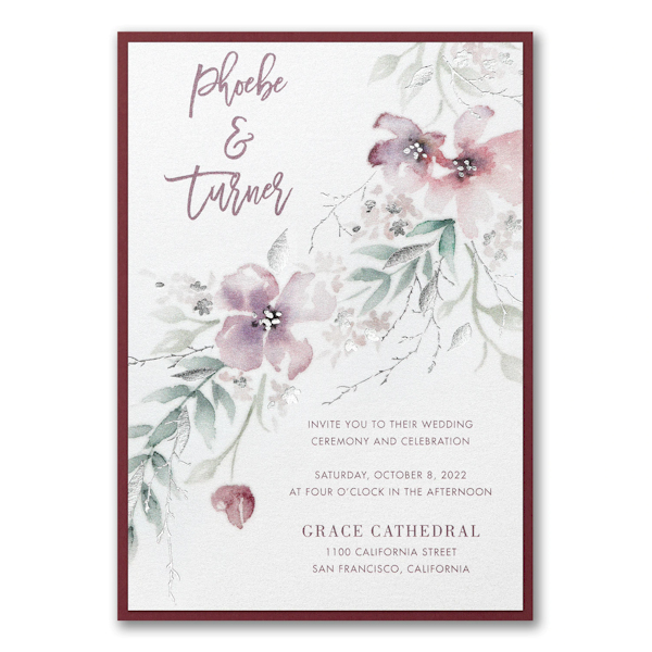 Boho Sophistication Layered Wedding Invitation Icon