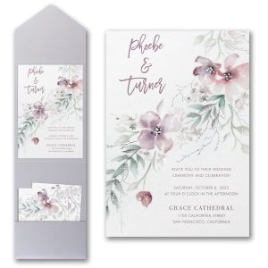Boho Sophistication Pocket Wedding Invitation