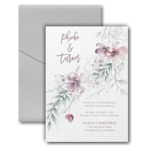 Boho Sophistication Pocket Wedding Invitation Icon