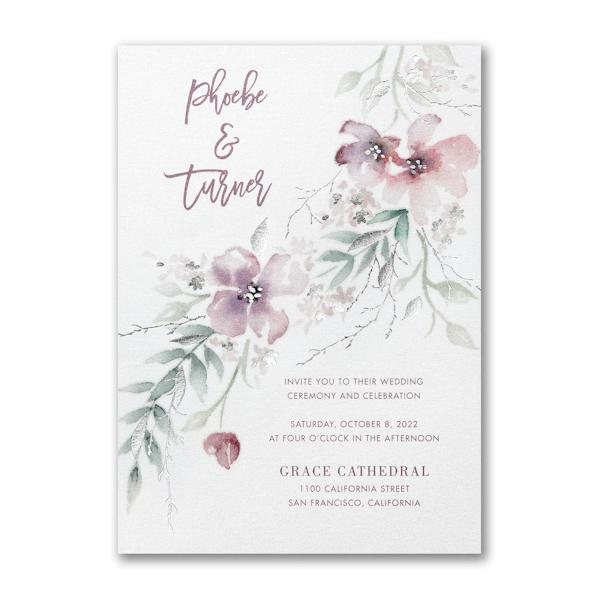 Boho Sophistication Wedding Invitation