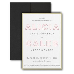 Bold Beauty Layered Pocket Wedding Invitation Icon