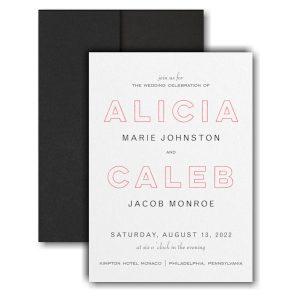 Bold Beauty Pocket Wedding Invitation Icon