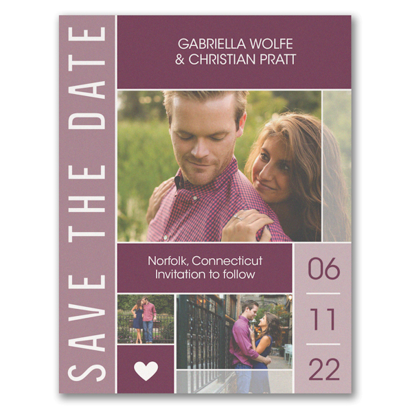 Bold Date Save the Date Card