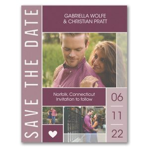 Bold Date Save the Date Magnet Icon