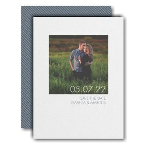Border Love Save the Date Card Icon