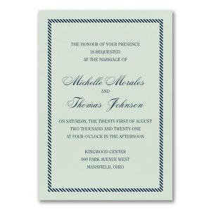 Border and Stripes Wedding Invitation Icon