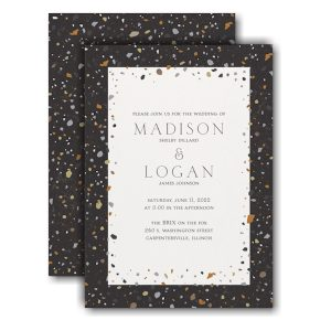 Bordered Terrazzo Wedding Invitation Icon