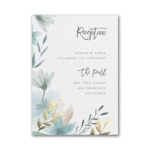 Botanic Beauty Layered Reception Pocket Card