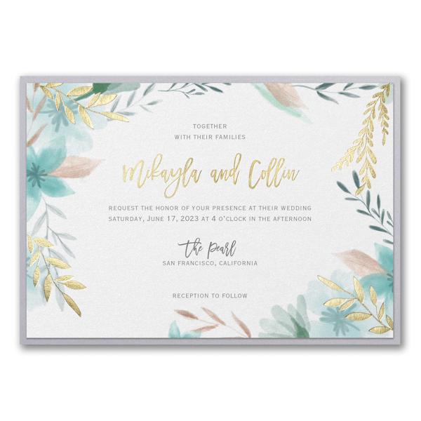 Botanic Beauty Layered Wedding Invitation