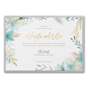 Botanic Beauty Layered Wedding Invitation Icon