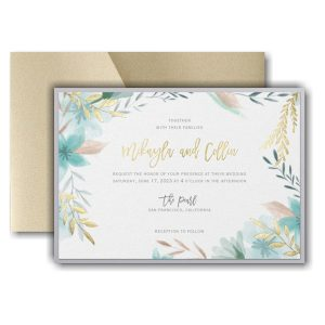 Botanic Beauty Pocket Layered Wedding Invitation Icon