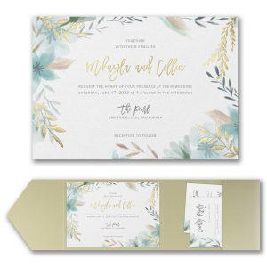 Botanic Beauty Pocket Wedding Invitation