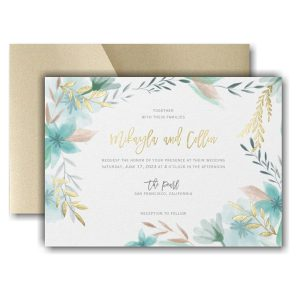 Botanic Beauty Pocket Wedding Invitation Icon