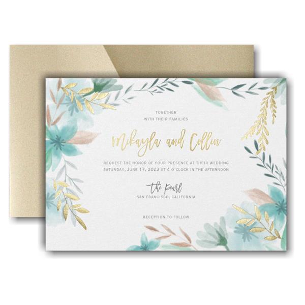 Botanic Beauty Pocket Wedding Invitation Icon