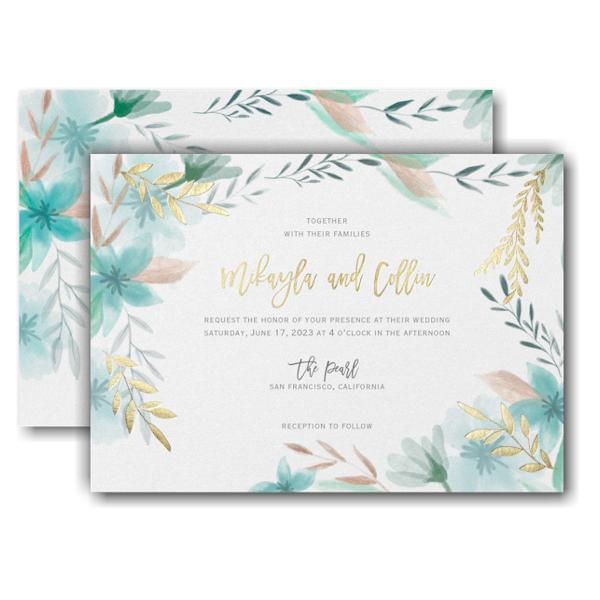 Botanic Beauty Wedding Invitation