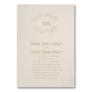 Botanic Crest Wedding Invitation Icon