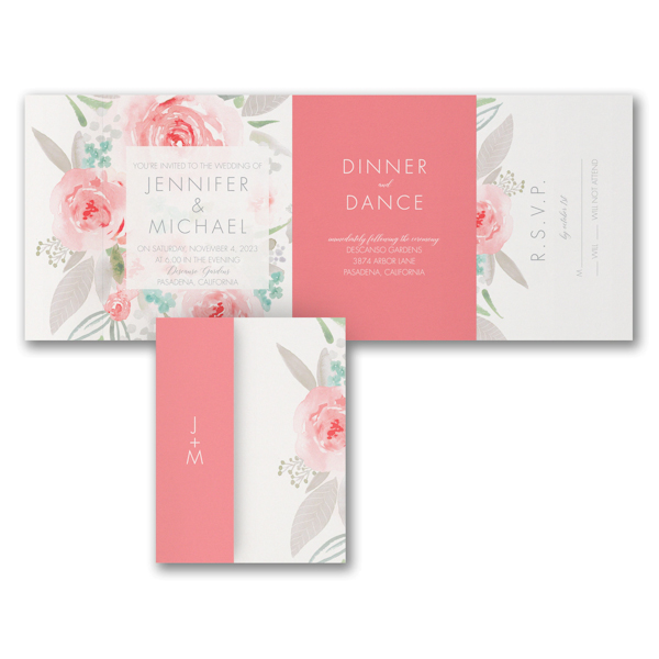 Botanical Bliss All in One Wedding Invitation