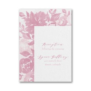 Botanical Elegance Layered Pocket Reception Card