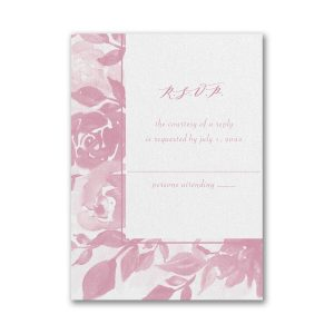 Botanical Elegance Layered Pocket Response Card