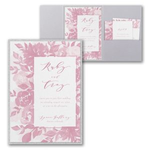 Botanical Elegance Layered Pocket Wedding Invitation