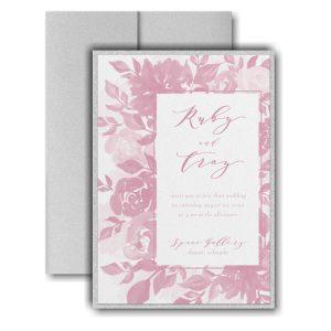 Botanical Elegance Layered Pocket Wedding Invitation Icon