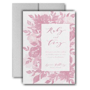 Botanical Elegance Pocket Wedding Invitation Icon