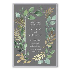 Botanical Grandeur Layered Wedding Invitation Icon