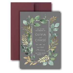Botanical Grandeur Pocket Wedding Invitation Icon