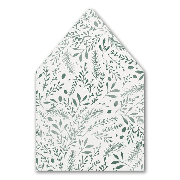 Botanical Greenery Envelope Liner