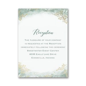 Botanical Greenery Reception Card
