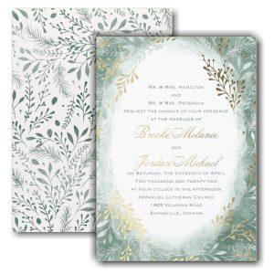 Botanical Greenery Wedding Invitation