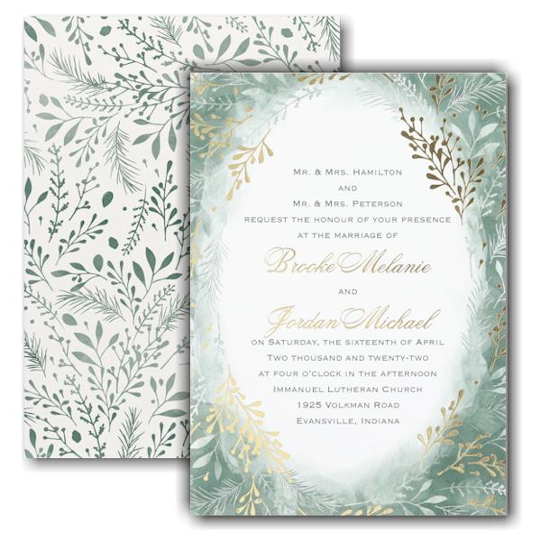 Botanical Greenery Wedding Invitation Icon
