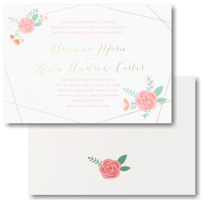 Botanical Impression Wedding Invitation Icon