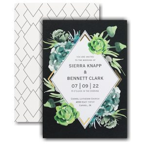 Bountiful Greenery Wedding Invitation Icon
