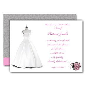 Bridal Dress Form Bridal Shower Invitation Icon