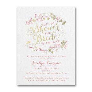 Bridal Flowers Bridal Shower Invitation Icon