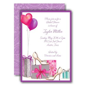 Bridal Shoes & Balloons Bridal Shower Invitation Icon