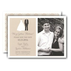 Bride and Groom To Be Photo Save the Date Card Icon