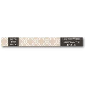 Bride and Groom To Be Photo Skinny Address Label