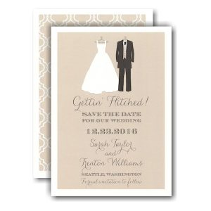 Bride and Groom To Be Save the Date Card Icon
