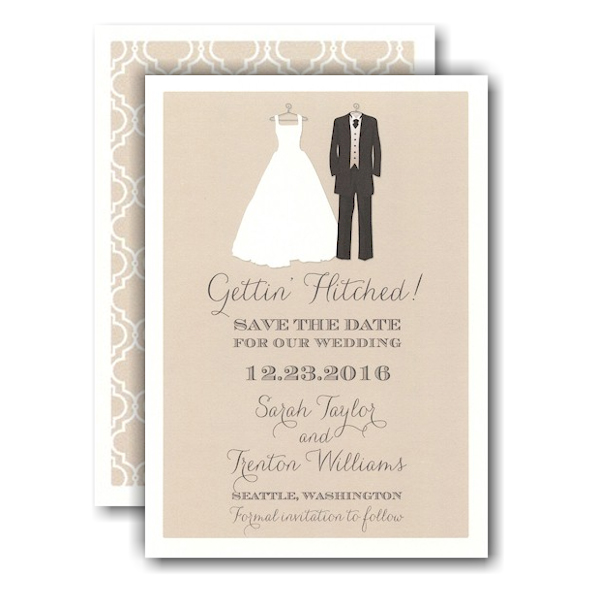 Bride and Groom To Be Save the Date Card