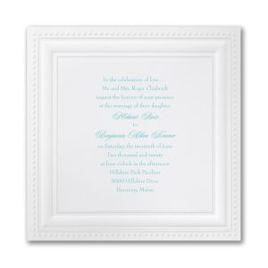 Bright White Squares Wedding Invitation Icon