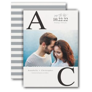 Broad Initials Save the Date Card Icon