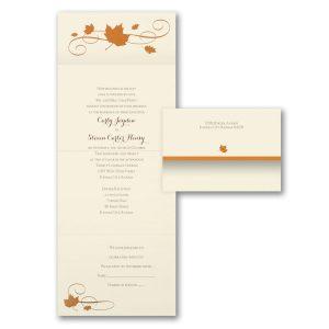 Bronze Maple Seal 'n Send Wedding Invitation Icon